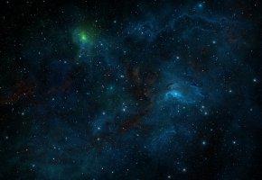 Обои Tim Barton, glow, звёзды, stars, universe, space, туманность, космос, мироздание, россыпь, nebula, узоры, shine, art, огни, lights, мерцание, арт, сия