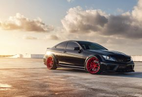 Обои mercedes c63, black series, AMG, мерседес, купе