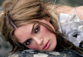 Актриса, Keira Knightley Celebrities, взгляд, глаза