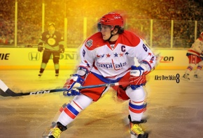 Обои Alexander Ovechkin, Александр Овечкин, Washington Capitals, NHL, НХЛ, хоккей, hockey