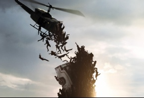 Обои World War Z, Brad Pitt, Gerry, Lane, Plane, Zombie, Zomb, men, man, dead, death, dark, hd, wallpaper