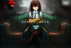 аниме, арт, девушка, sweeter 6, makise kurisu, steins;gate