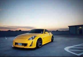 Обои auto, cars, Nissan 350z, Nissan, 350z, Tuning, tuning auto, wallpapers auto, City, Parking, Photo