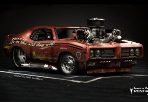Обои Pontiac GTO, American Muscle, Hot Rod, Car