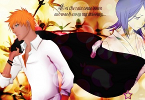 ichigo, rukia, soul reaper, bleach, Orange hair