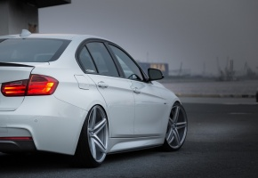 bmw, car, vossen, white, tuning