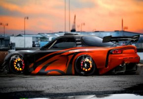 tuning, mazda rx7, virtual tuning