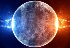 Обои Sci Fi, planet, red, blue
