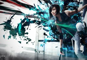 Обои Mirror\'s Edge 2, Faith Connors, girl, Mirrors Edge 2, Faith, abstract, Connors, Electronic Arts, EA, DICE, video games, background