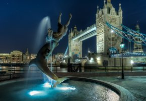 Обои london, tower bridge, англия, лондон, england, uk, night