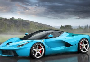 Ferrari, LaFerrari, Tiffany Blue, Феррари, ЛаФеррари, Суперкар