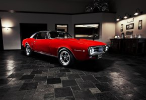 Обои Pontiac, Firebird, 1967, muscle car, понтиак, фаербёрд, мускул кар