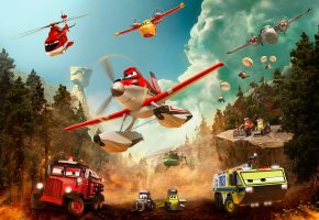 Обои Planes:Fire and Rescue, Самолеты:Огонь и вода, When others fly out, heroes fly in