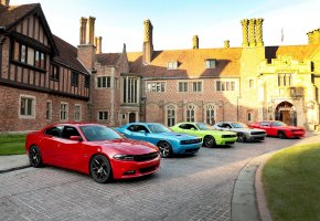 Обои dodge, challenger, charger, 2015, машины, тюнинг