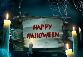 Обои night, хэллоуин, halloween, holiday, candles, happy