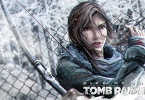 Обои Rise of the Tomb Raider, Tomb Raider, девушка, лицо, lara croft