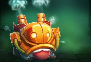 Обои Poro, Blitzcrank, League of Legends, lol