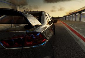 Обои Project CARS, mitsubishi, lancer, Community Assisted Race Sim, Project, cars, Slightly Mad Studios, game