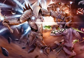 Обои Heroes of the Storm, diablo, Warcraft, azmodan, Tyrael, Archangel of Justice, illidan stormrage