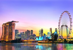 Обои Singapore, Marina Bay Sands, Сингапур, отель, аттракцион, мегаполис, небоскребы