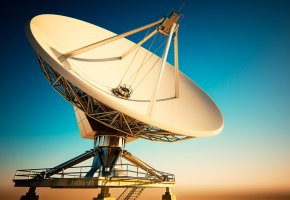 Обои Satellite, sky, communication, dish, space, антенна