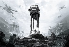 Обои star wars battlefront, игры, Electronic Arts, Sallast, Rebels, Stormtroopers