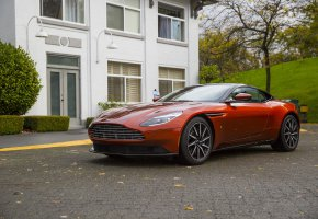 Обои Aston Martin, Orange, House, авто, car, машина