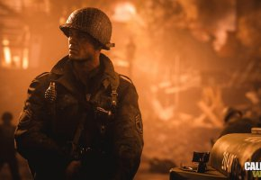 Обои Flame, WW2, Soldier, Call of duty, COD14, солдат, Foreground