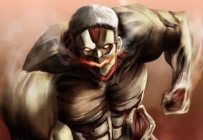 Обои anime, evil, giant, manga, powerful, strong, muscular