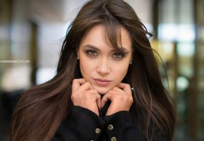 Обои brunette, green, eye, look, beautifull, face, perfect, pretty, teen