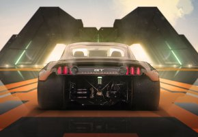 Обои Concept, Mustang, Ford, Tuning, Future, Halo 4, by Khyzyl Saleem