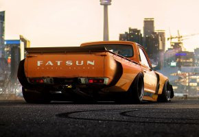 Обои Concept, Orange, Car, Pickup, by Khyzyl Saleem, Fatsun