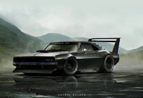 Обои Dodge, ART, Charger, by Khyzyl Saleem