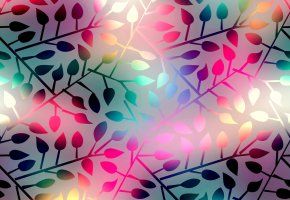 Обои фон, abstract, colorful, background, leaves, shining, листья