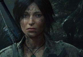 Обои волосы, лук, Tomb Raider, Лара Крофт, Shadow of the Tomb Raider